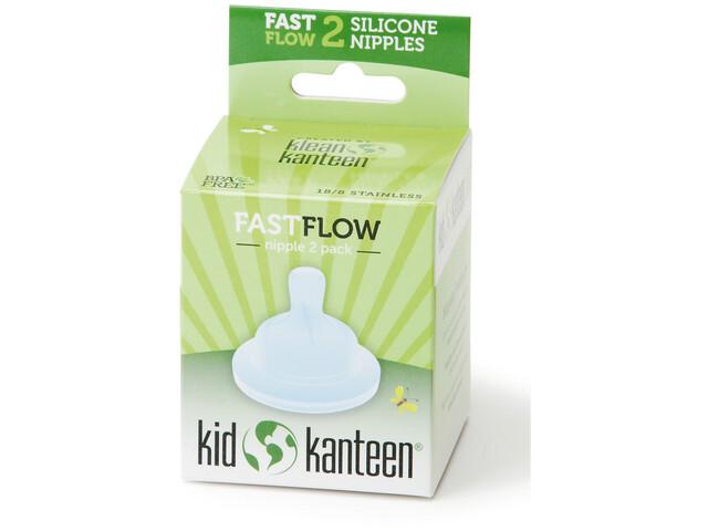 Klean Kanteen tétine - Fast, 2 pièces transparent